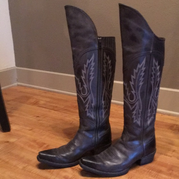341129ded74 Ariat Shoes - Ariat over the knee cowboy boots - size 9